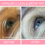 Lash Lift & Lash & Brow Tint Before and After