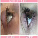 Lash Perm and Tint Before and After