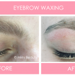 Eyebrow Waxing Before & After