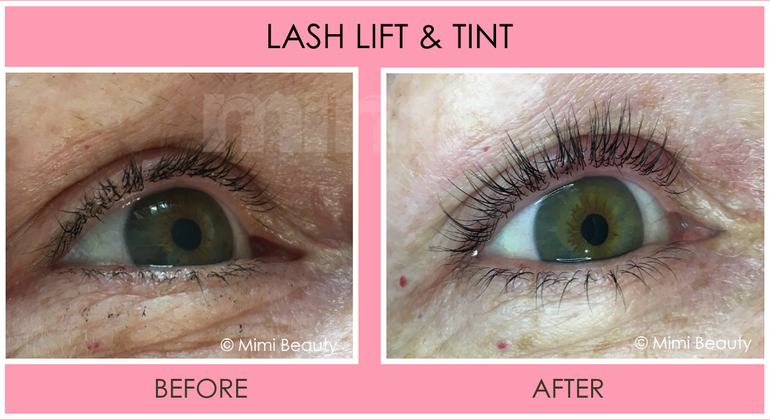 Mimi Lash Lift and Tint before and after